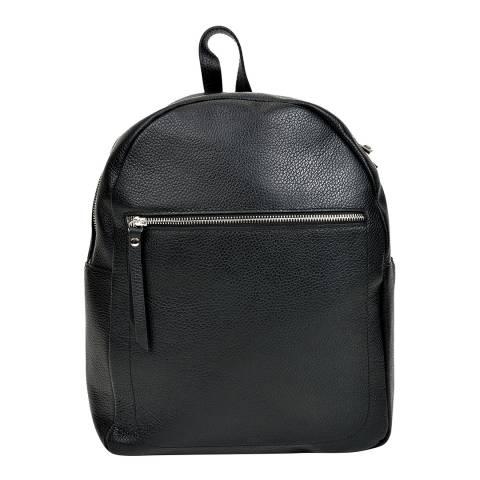 Mangotti Bags Black Leather Backpack