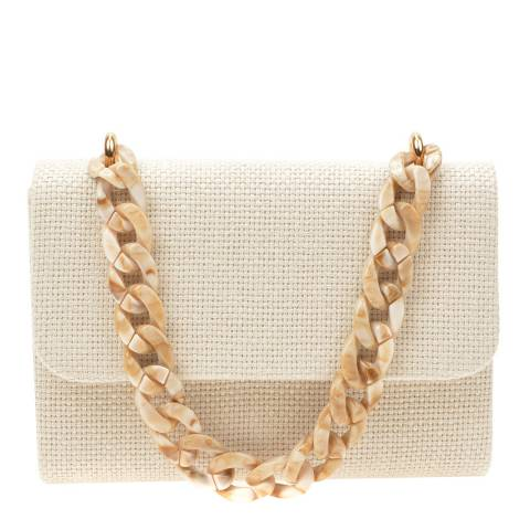 Mangotti Beige Top Handle Bag