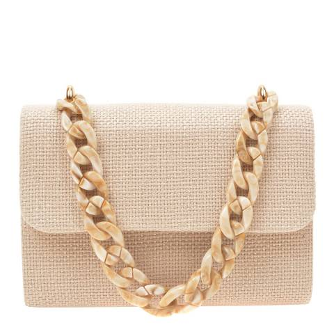 Mangotti Beige Top Handle Bag