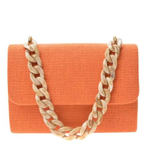 Mangotti Orange Top Handle Bag