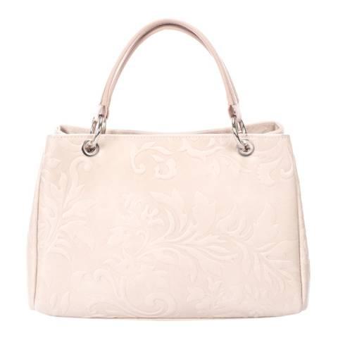Massimo Castelli Blush Leather Top Handle Bag