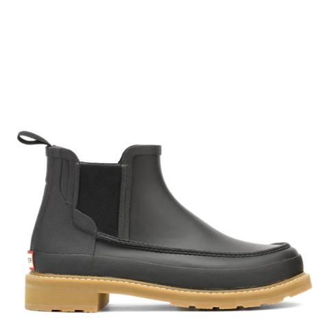 Hunter Black Chelsea Lightweight Mock Toe Short Wellington Boots