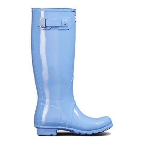 Hunter Vivid Blue Gloss Original Tall Wellington Boots