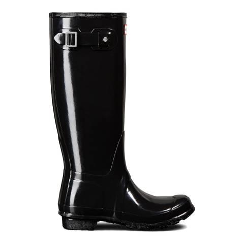 Hunter Black Gloss Original Tall Wellington Boots