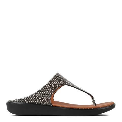 FitFlop Natural Snake Banda Toe Post Sandals