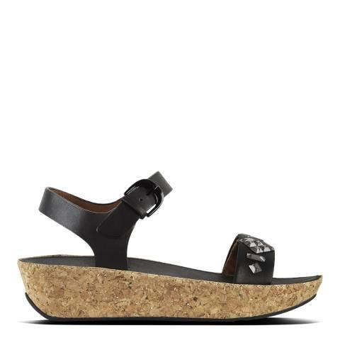 FitFlop Crystal Black Bon II Back Strap Sandals