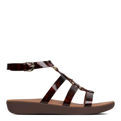 FitFlop Chocolate Brown Turtle Hoopla Tortoiseshell Sandals
