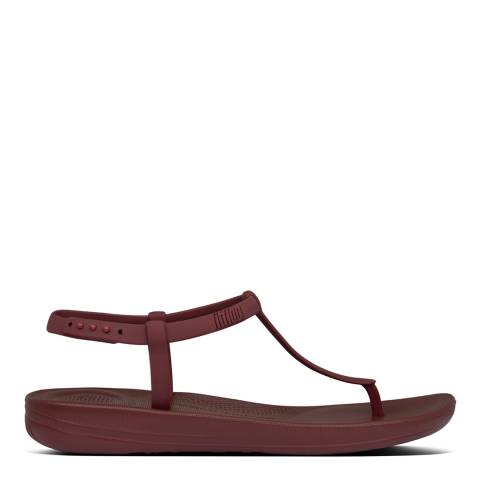 FitFlop Maroon Iqushion Splash Sandals