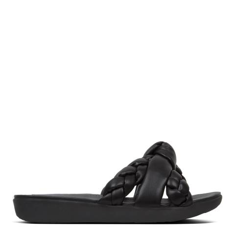 FitFlop Black Braid Toe Posts Sandals