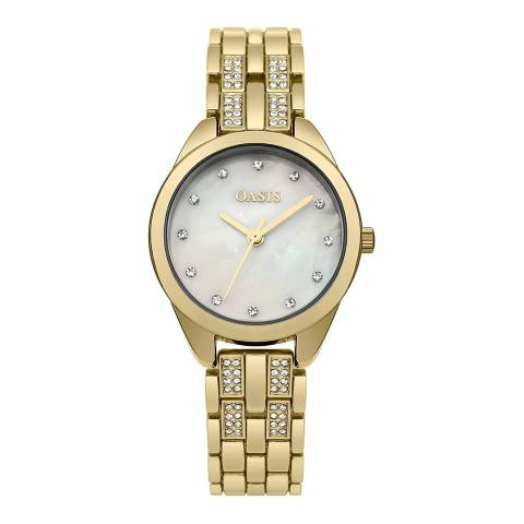Oasis Gold Crystal Bracelet Watch