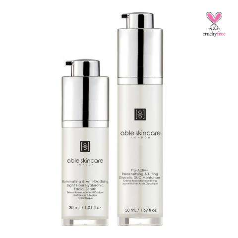 Able Skincare Set Skin Perfecting Mattifying DUO Day and Night Routine