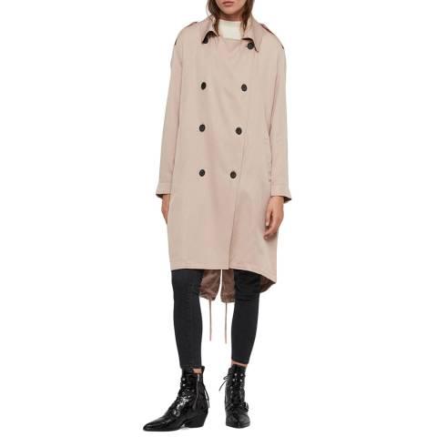 AllSaints Pink Lia Mac Coat