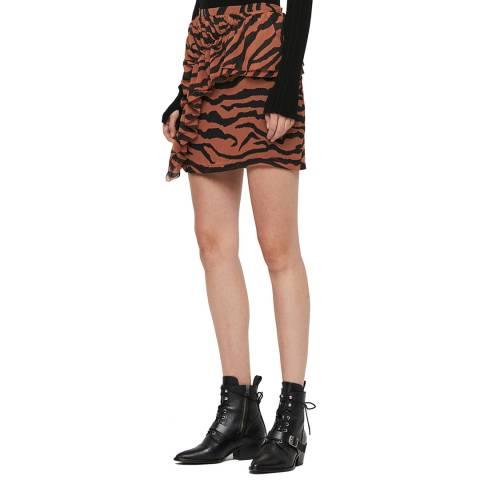 AllSaints Tiger Print Pia Zephyr Skirt