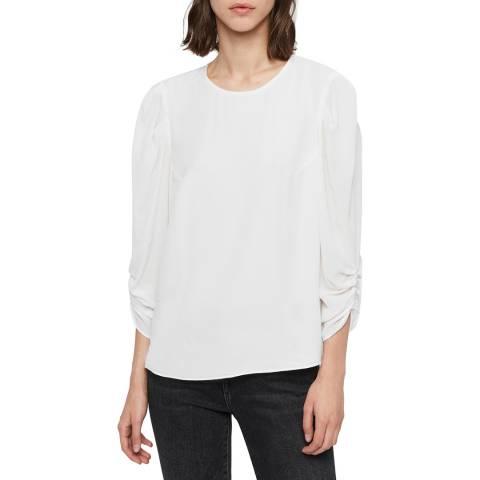 AllSaints White Josephine Top