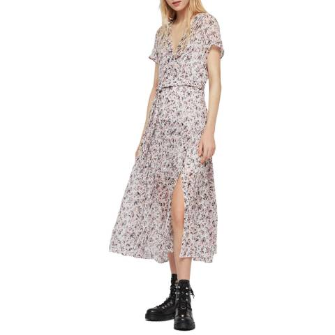 AllSaints White Floral Alix Freefall Dress
