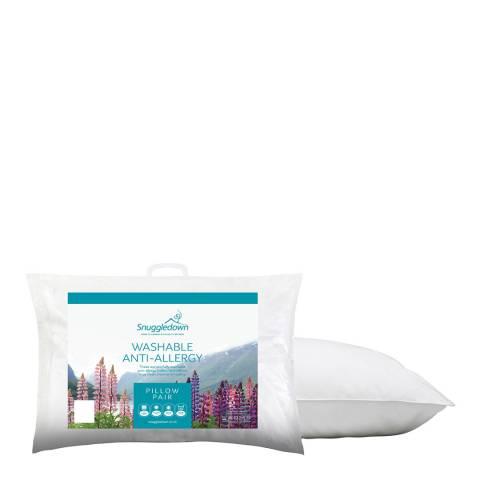 Snuggledown Washable Anti-Allergy Pair of Pillows
