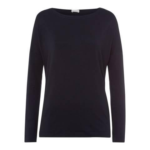Hanro Black Balance Shirt Long Sleeve