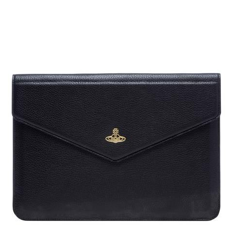 Vivienne Westwood Black Leather Envelope Tech Case