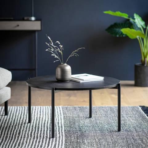Gallery Carbury Round Coffee Table Black