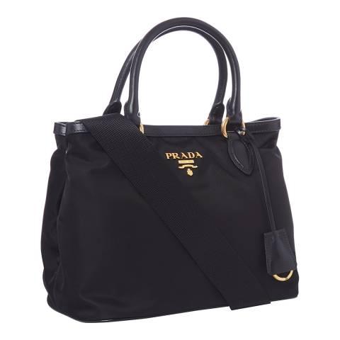 Prada Black Nylon Top Handle Bag