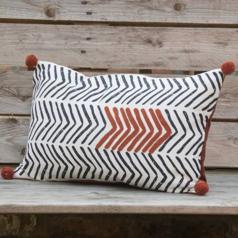 Febronie Brick Chevron Cushion Cover 50x30cm