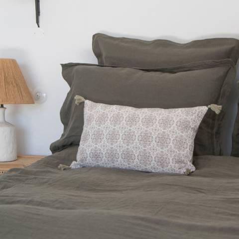 Febronie Taupe India Cushion Cover 50x30cm
