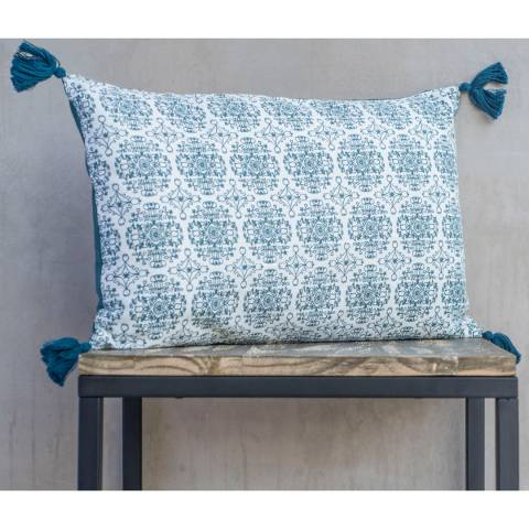 Febronie Blue Ink India Cushion Cover 50x30 cm