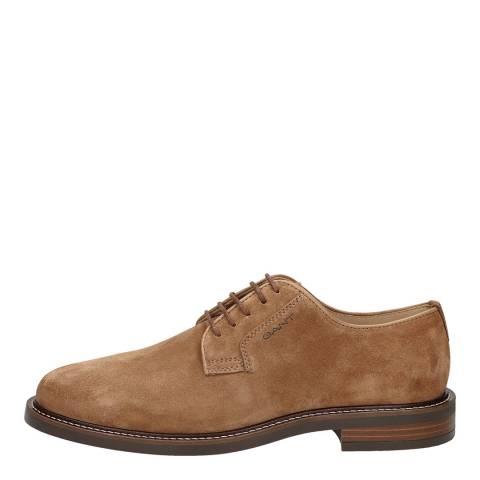 Gant Cognac St Akron Suede Derby Shoes