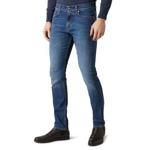 7 For All Mankind Blue Ronnie Luxe Slim Stretch Jeans