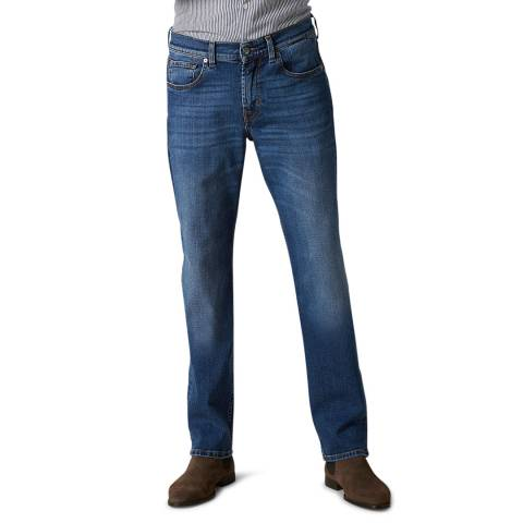 7 For All Mankind Blue Slimmy Luxe Stretch Jeans