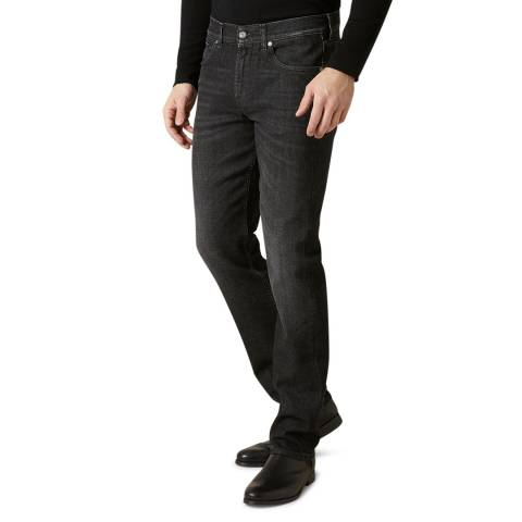 7 For All Mankind Black Slimmy Luxe Stretch Jeans