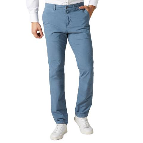 7 For All Mankind Blue Slimmy Weightless Stretch Chinos