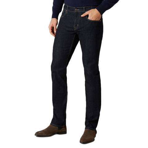 7 For All Mankind Dark Denim The Straight Stretch Jeans