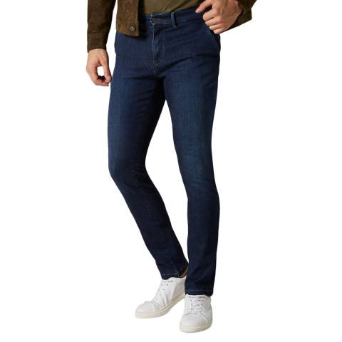 7 For All Mankind Navy Ronnie Slim Stretch Chinos