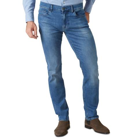 7 For All Mankind Mid Blue Blue Kayden Slim Stretch Jeans