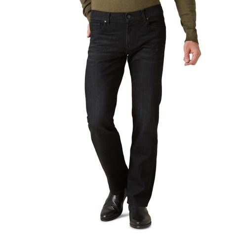 7 For All Mankind Black Standard Stretch Jeans