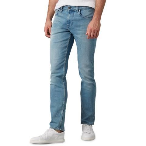 7 For All Mankind Blue Kayden Slim Stretch Jeans