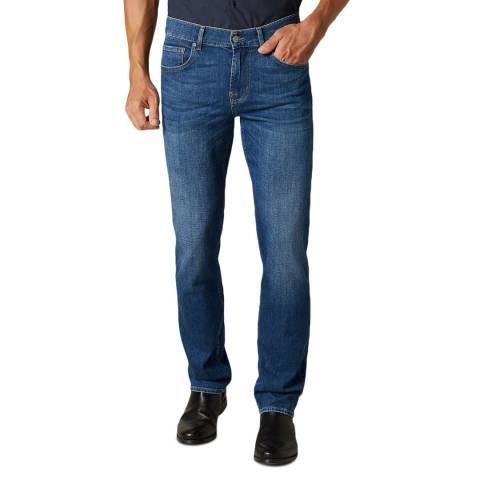 7 For All Mankind Indigo Slimmy Santafe Stretch Jeans
