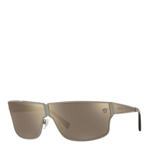 Versace Women's Gun Metal/Brown Mirrored Versace Sunglasses 72mm