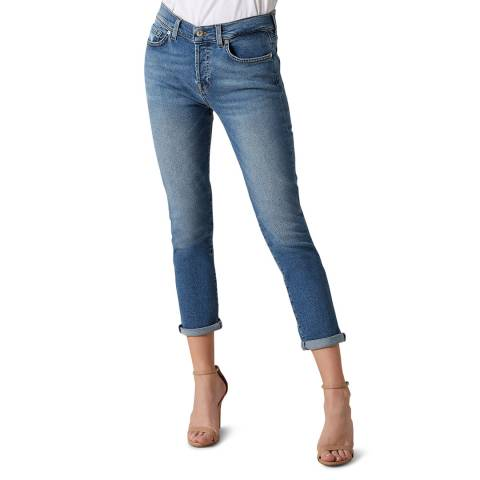 7 For All Mankind Blue Luxe Vintage Asher Stretch Jeans