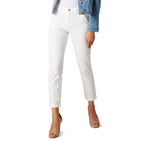 7 For All Mankind White Modal Twill Stretch Chinos