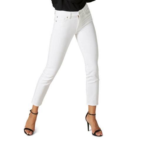 7 For All Mankind White Roxanne Stretch Jeans