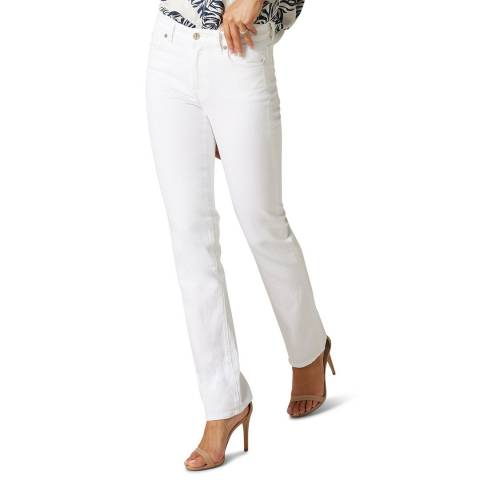 7 For All Mankind White The Straight Stretch Jeans