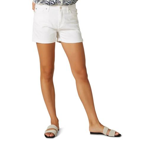 7 For All Mankind White Stretch Boy Shorts