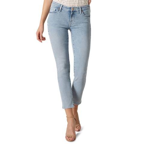 7 For All Mankind Light Blue Embellished Stretch Jeans
