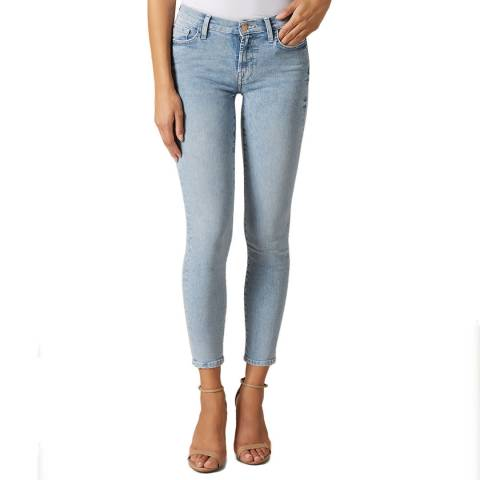 7 For All Mankind Light Blue Illusion Skinny Stretch Jeans