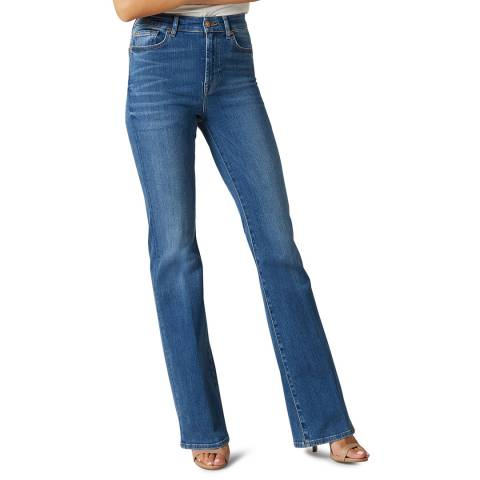 7 For All Mankind Blue Lisa Slim Illusion Stretch Jeans