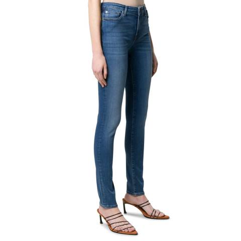 7 For All Mankind Indigo Pyper Slim Illusion Luxe Stretch Jeans