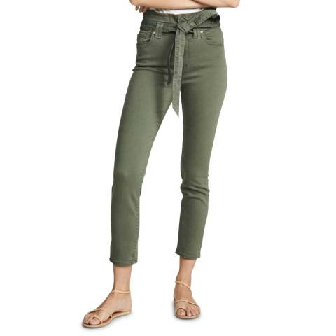 7 For All Mankind Khaki Paperbag Stretch Jeans