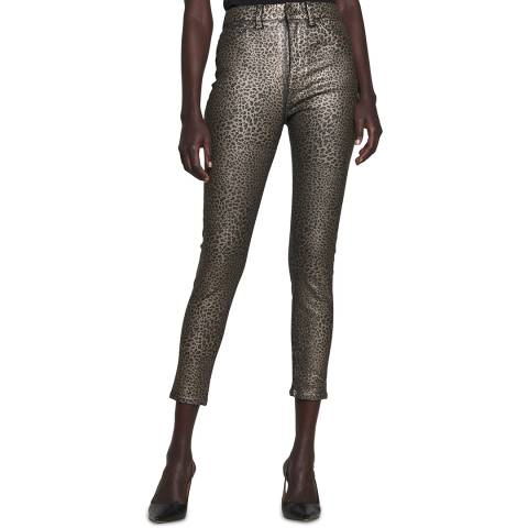 7 For All Mankind Leopard Print The Ankle Skinny Stretch Jeans